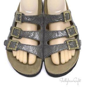 BIRKENSTOCK BETULA Woogie BLING GLITTER Sandals 41